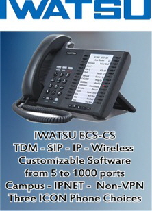 The IWATSU Enterprise-CS, from 5 to 1000 ports, 1 to 24 locations,  any combination of SIP, VoIP and TDM devices. The most advanced software solutions you will find on one platform.
