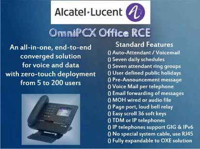 OmniPCX Office Rich Communication EditionModular, flexible and scalable to meet the needs of SMBs from 5 to 200 users -